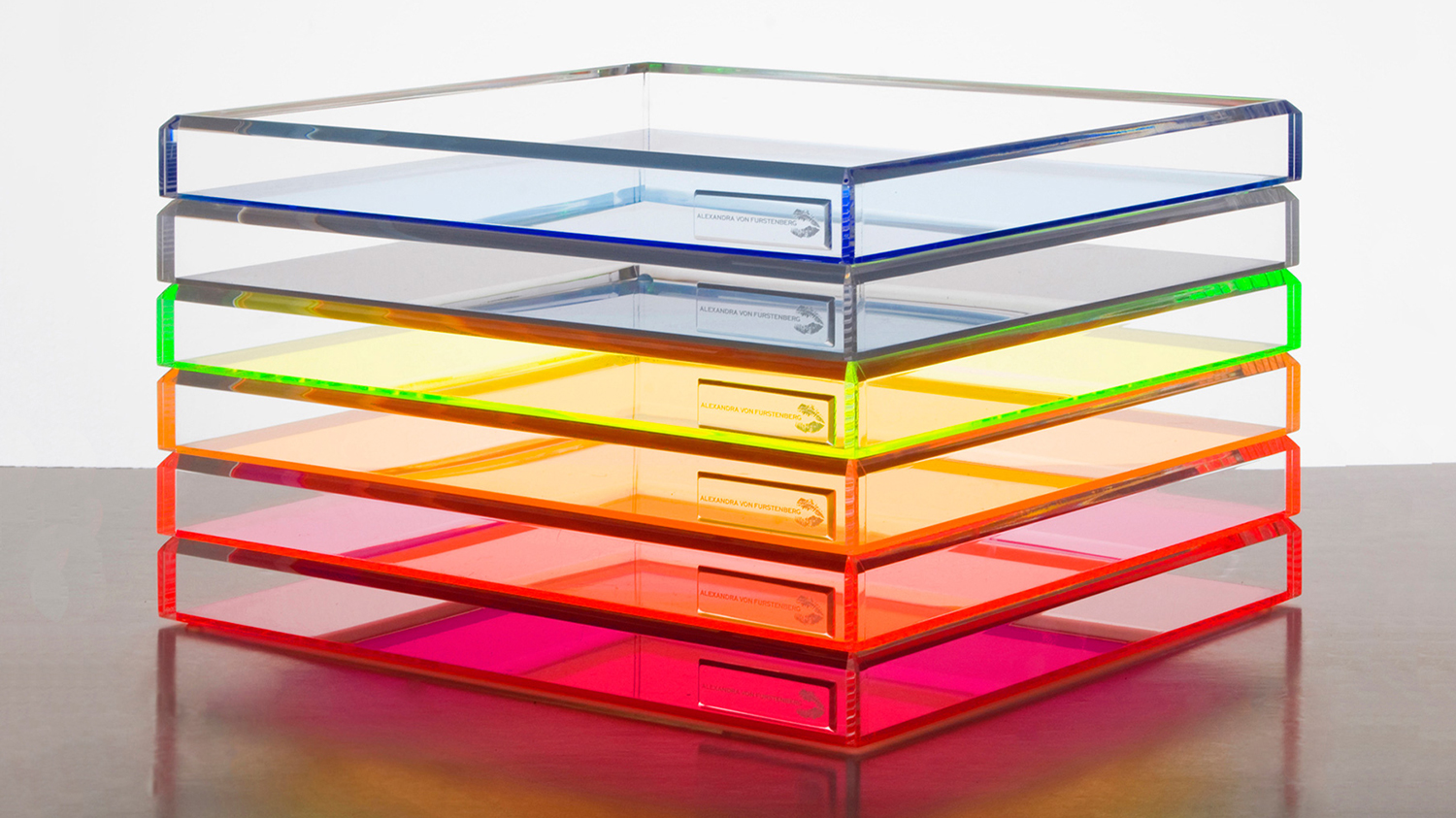 The colorful trays: