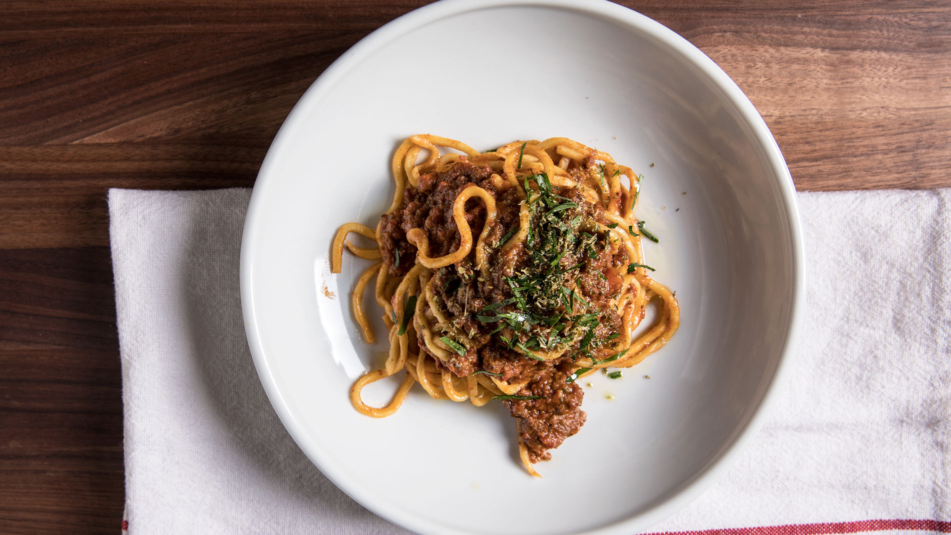 Pasta with Salumi Bolognese