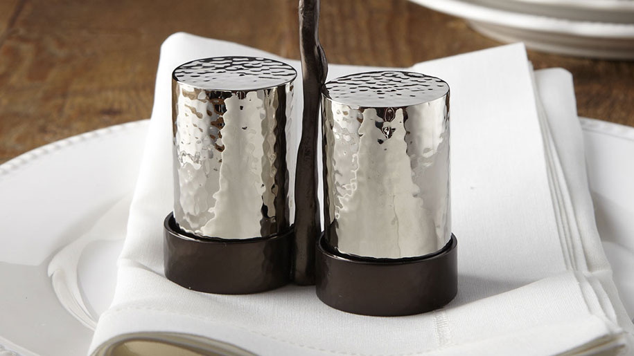 Black Orchid Salt and Pepper Shakers