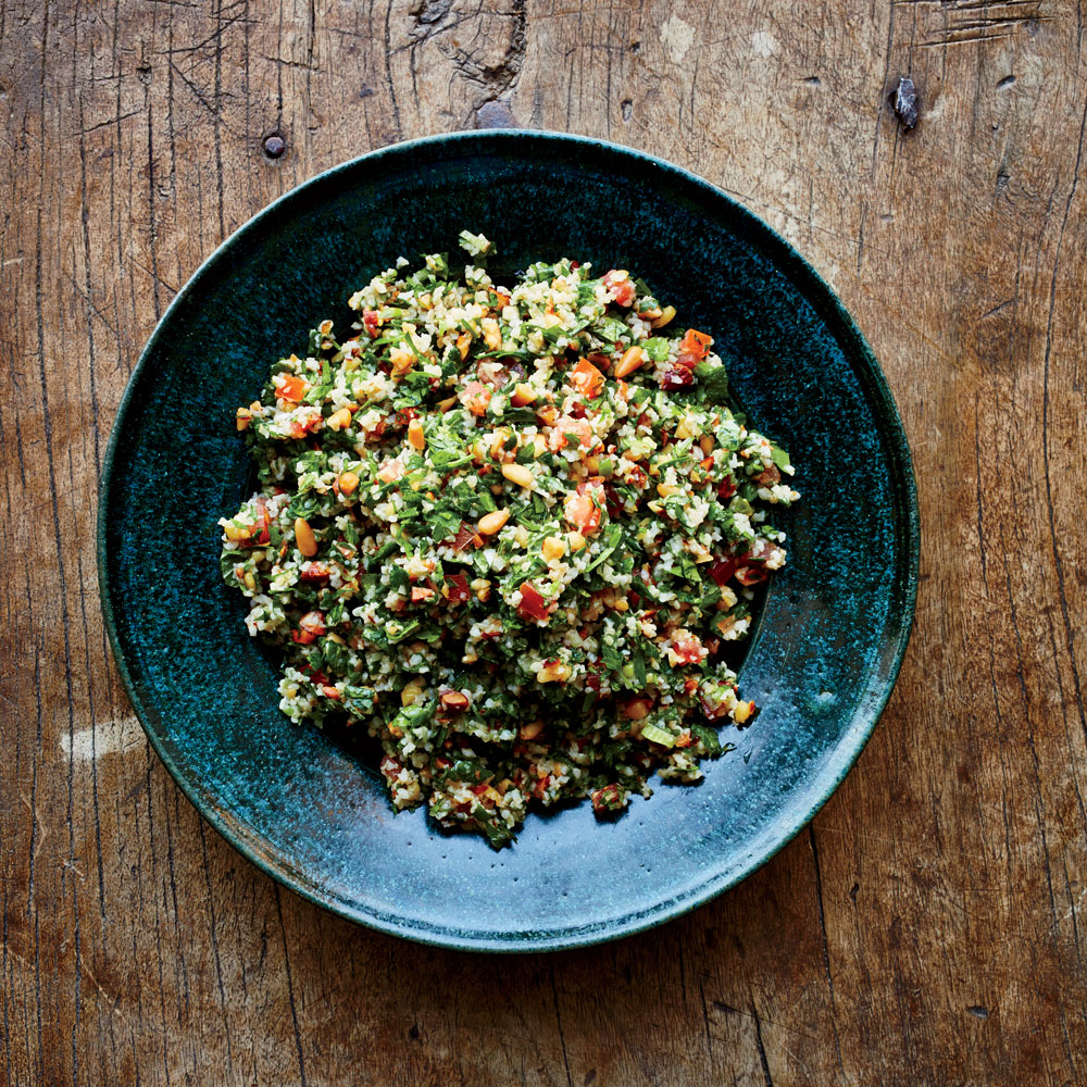 Tabbouleh with Pine Nuts and Almonds