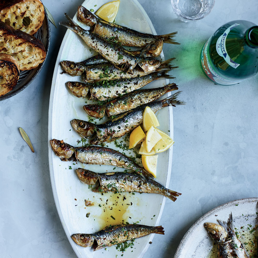 Whole Sardines with Parsley