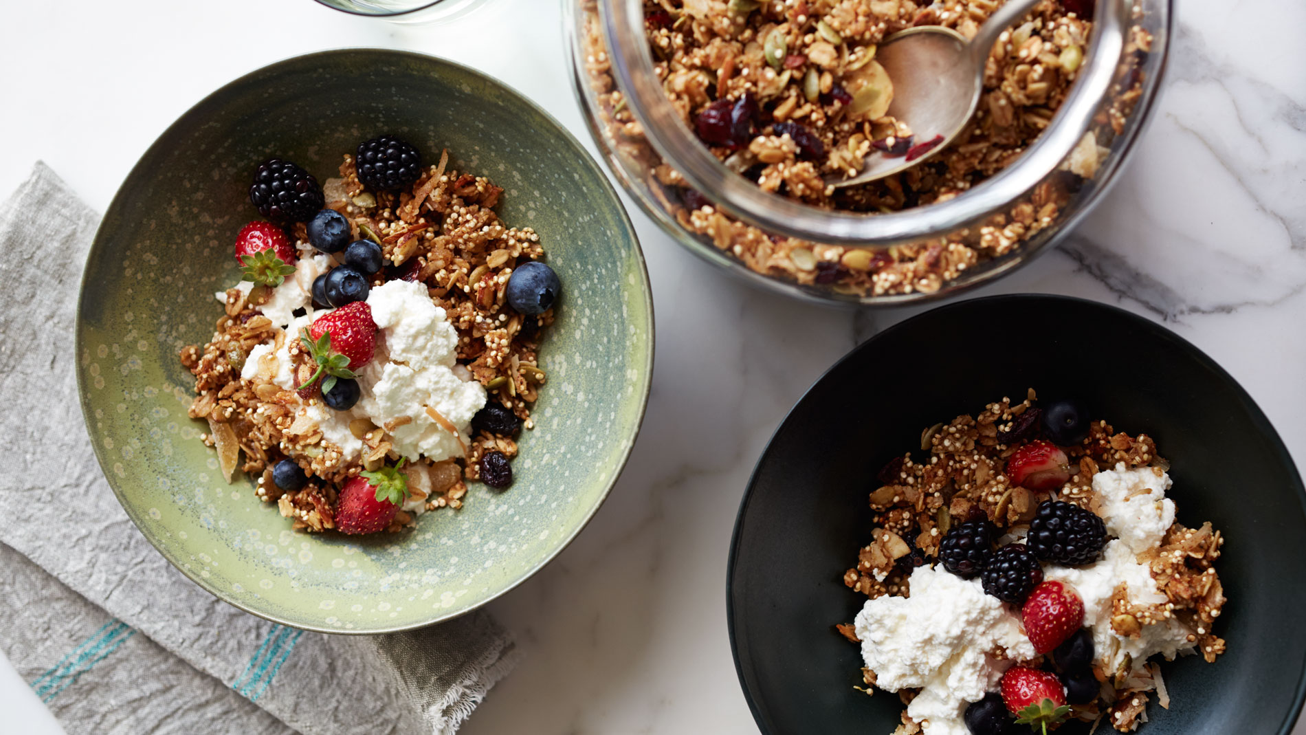 Candied Ginger Coconut and Quinoa Granola
