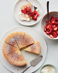Ricotta-Orange Pound Cake with Prosecco Strawberries