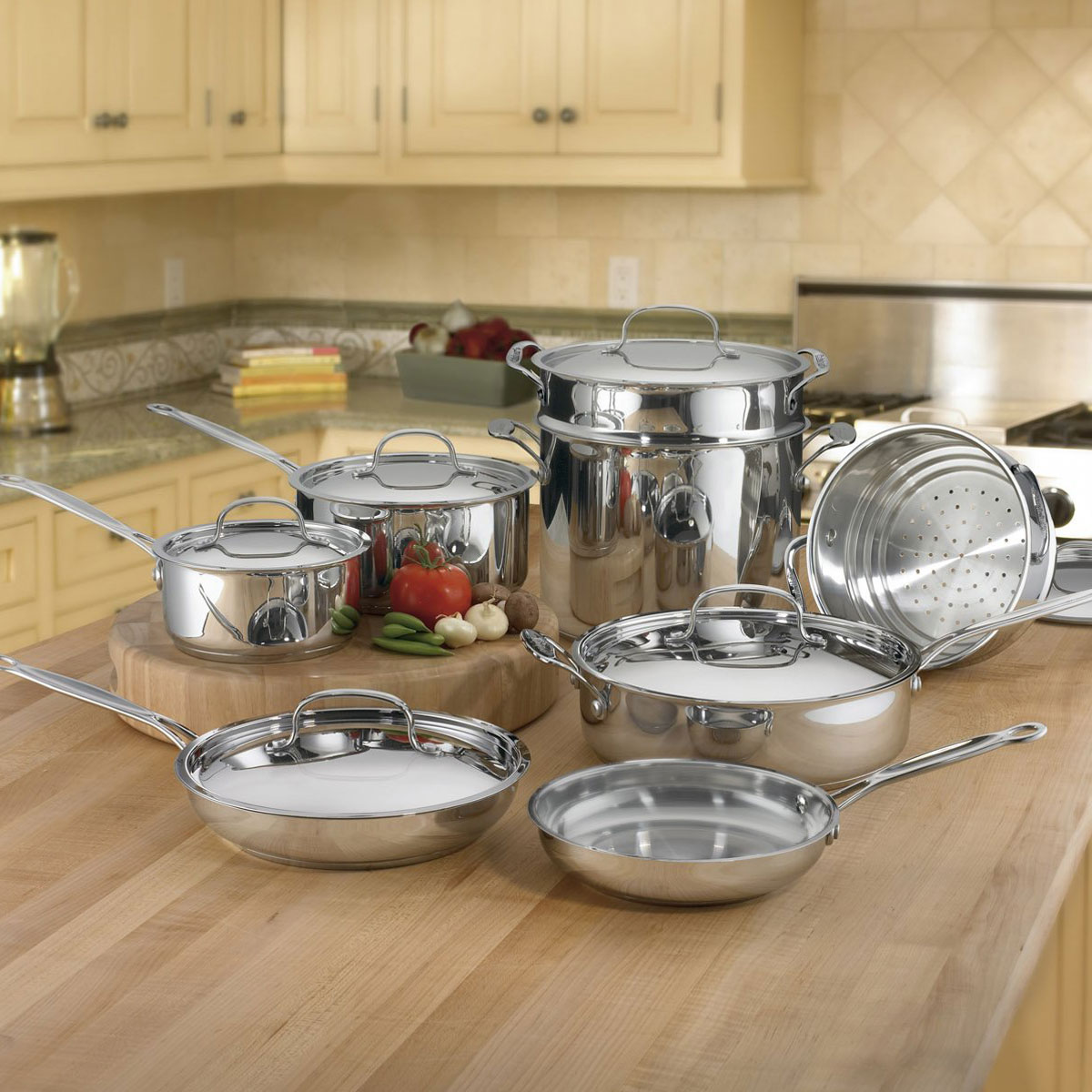 Cuisinart Chef's Classic Stainless Steel 14-Piece Cookware Set