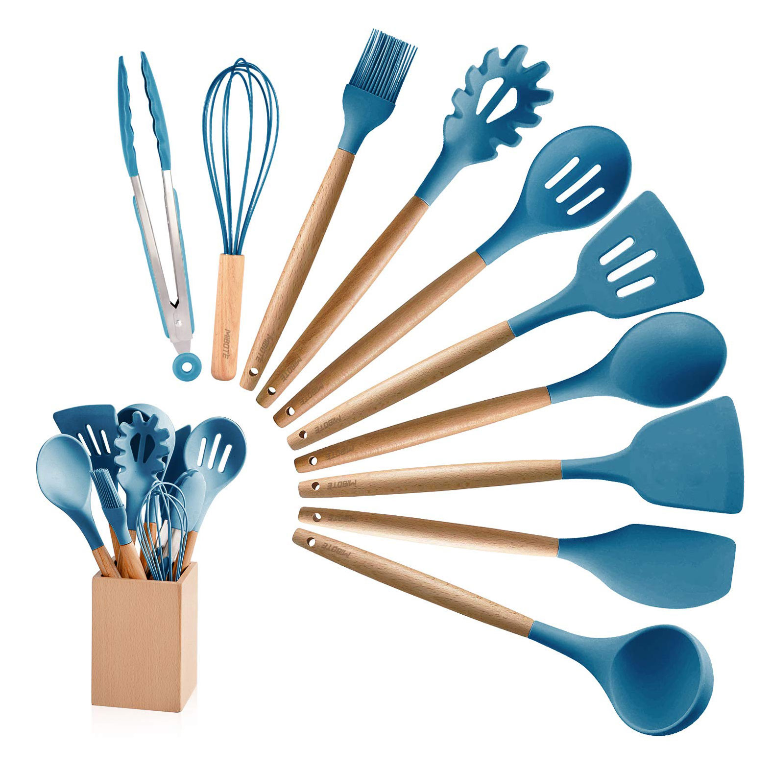 The kitchen utensils:
