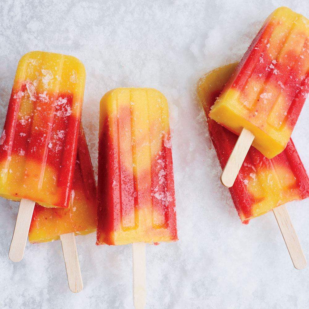 Strawberry-Mango Paletas