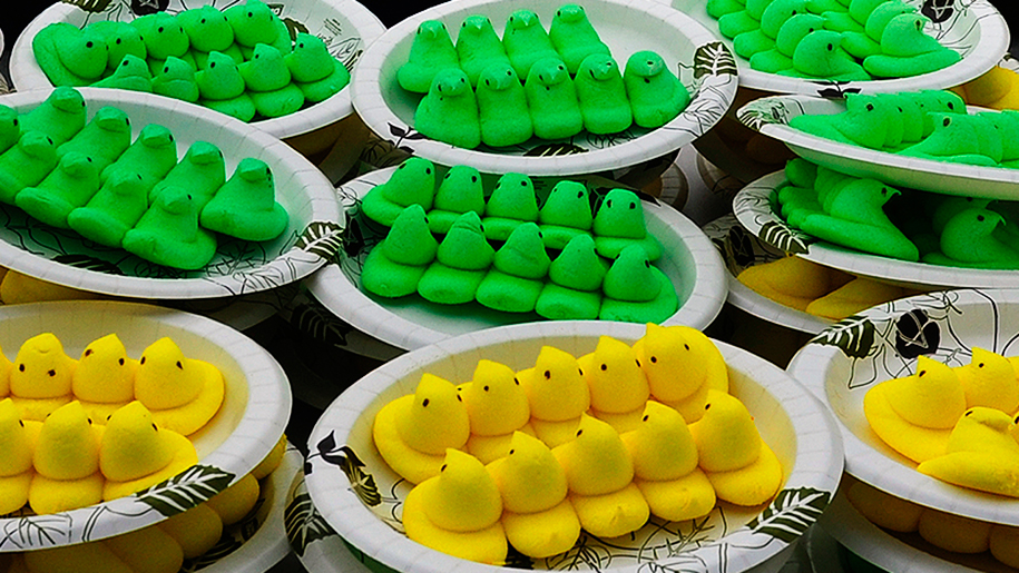 new world record for eating 255 peeps