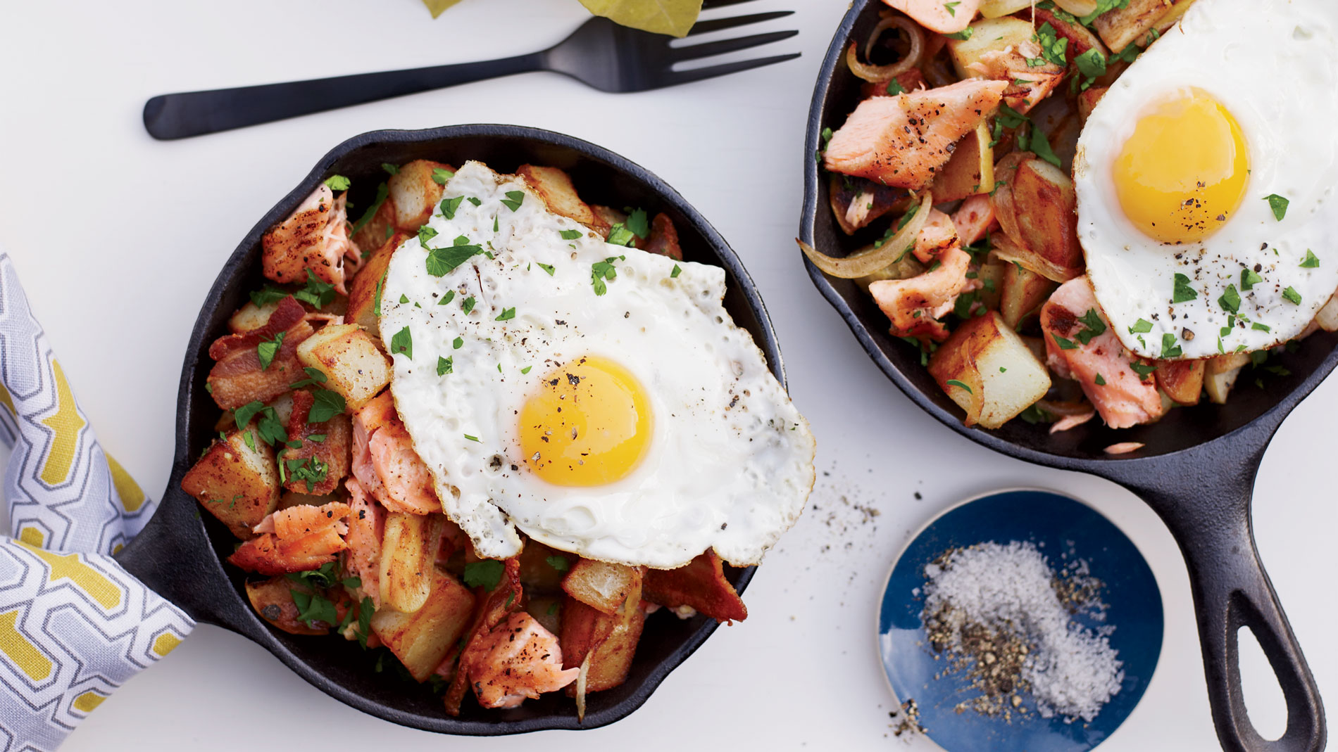 Salmon Bacon and Potato Hash