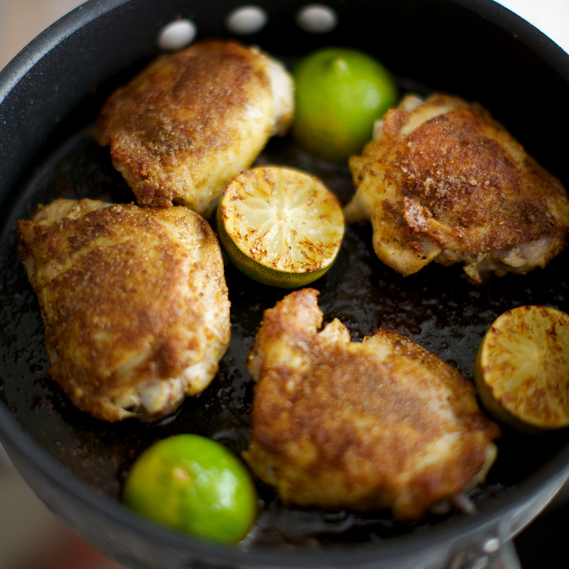 Pan-Roasted Curried Chicken Thighs
