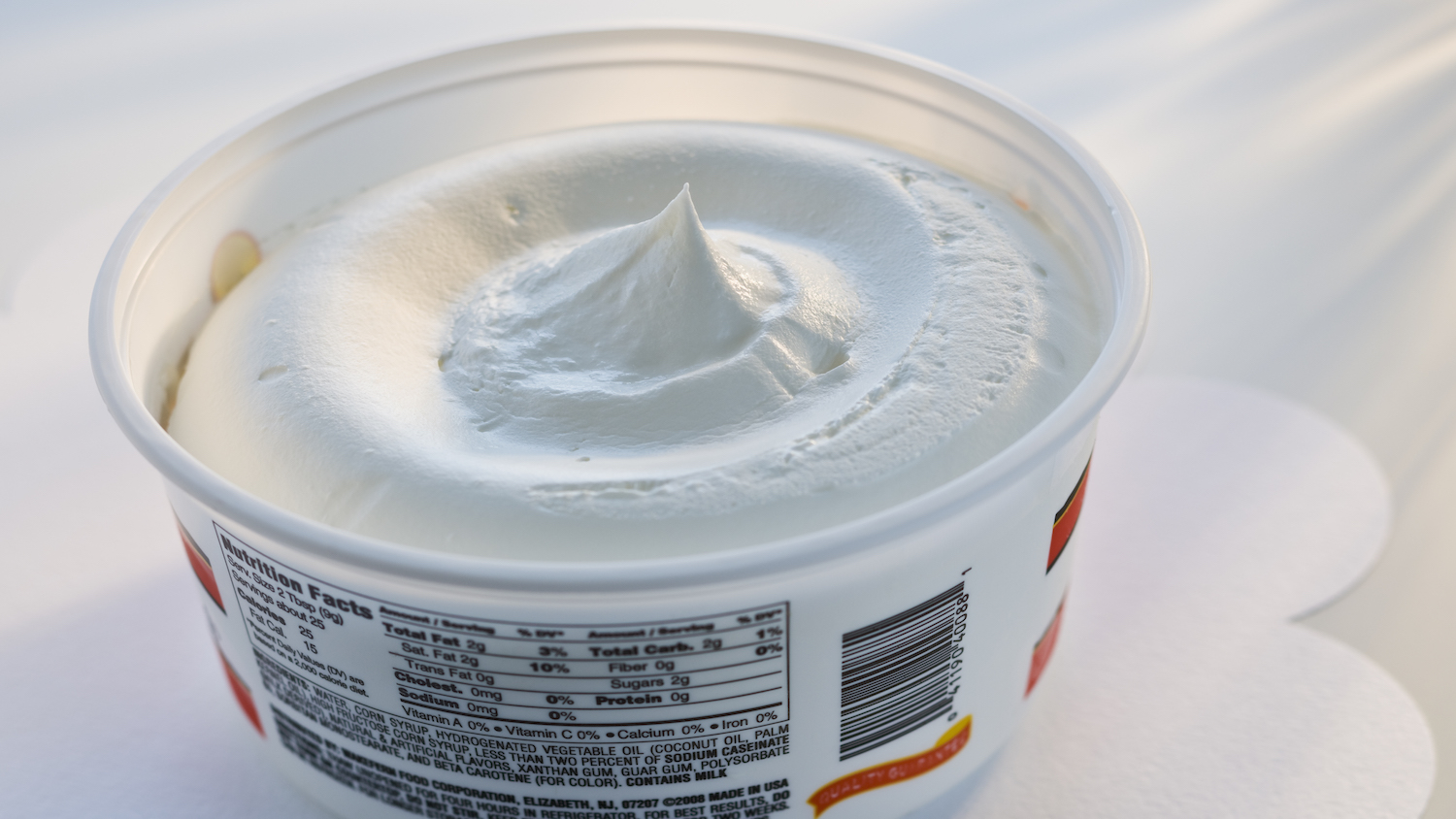 Cheescake-flavored Cool Whip