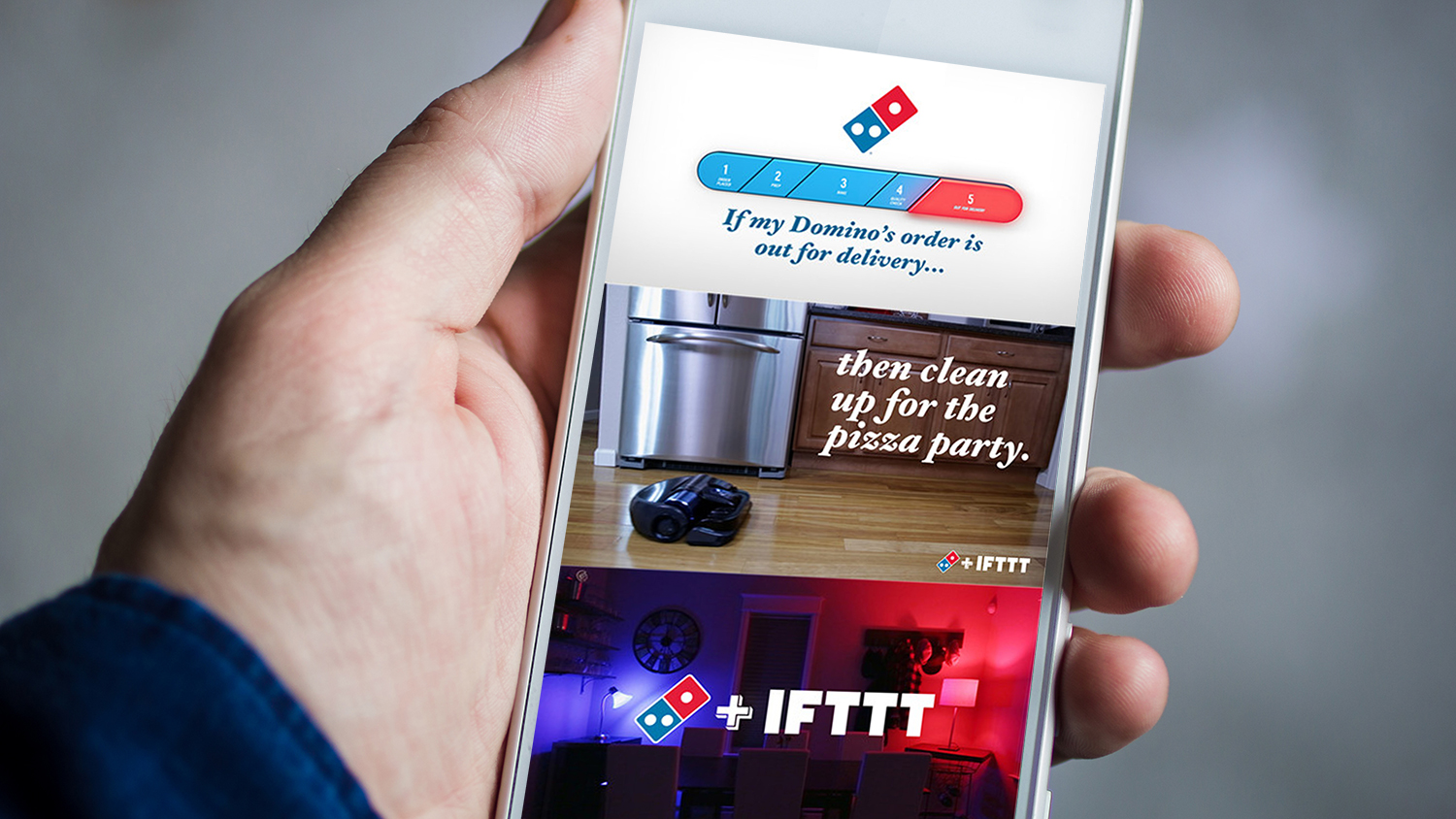 dominos ifttt