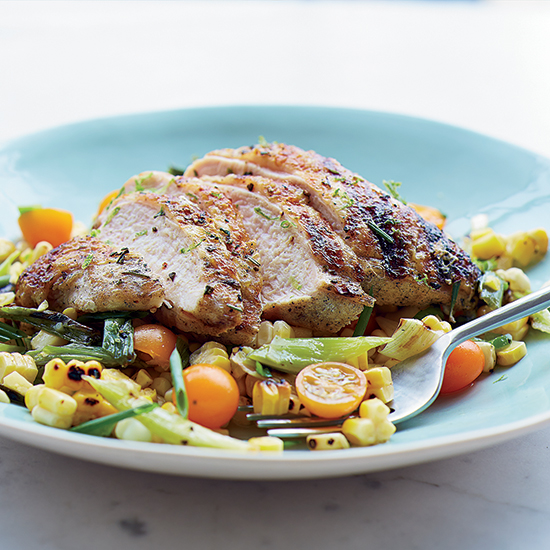 Grilled Chicken and Corn with Jalapeño-Lime Dressing