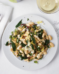 Day 4: Dandelion and White Bean Salad with Mint and Olives