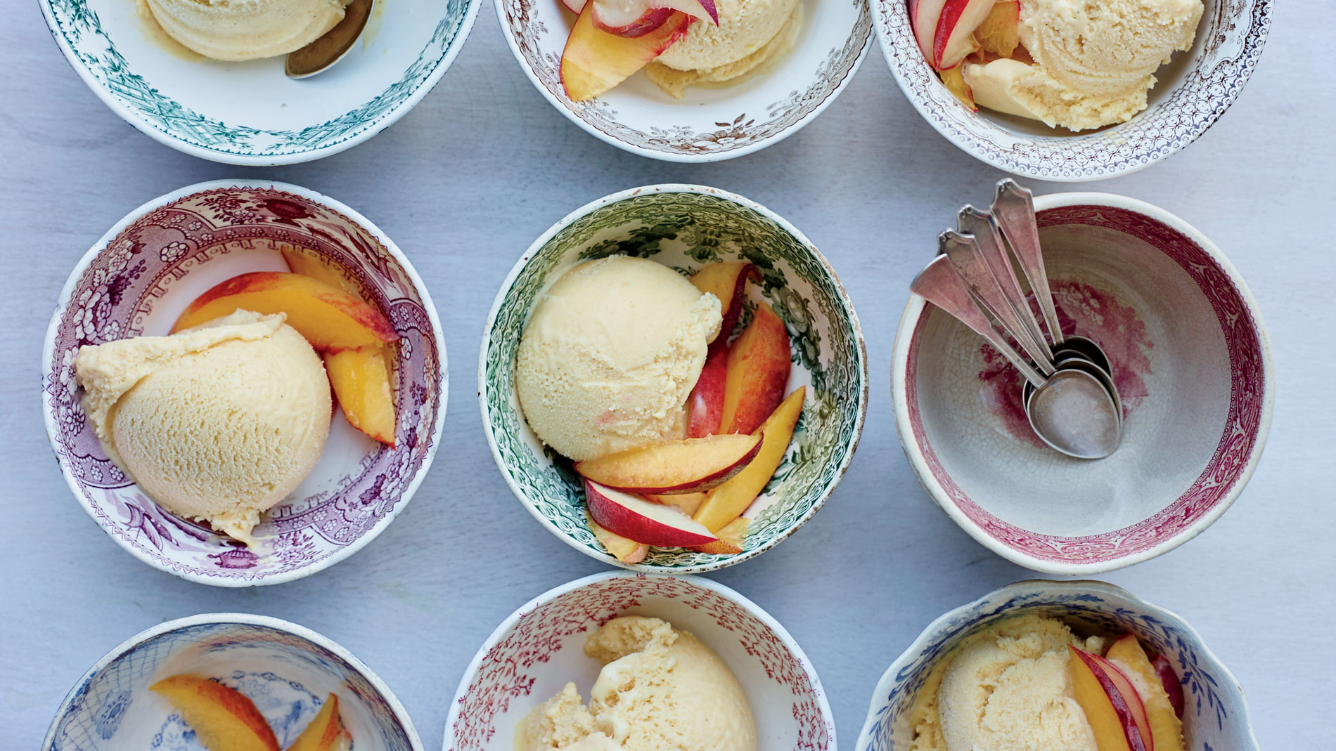 Peach Buttermilk Ice Cream