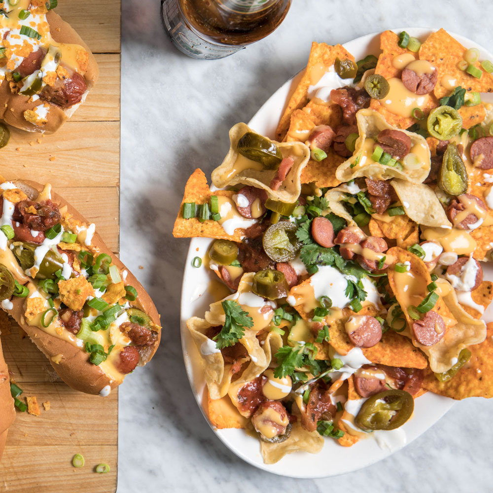 Hot Dog Nachos
