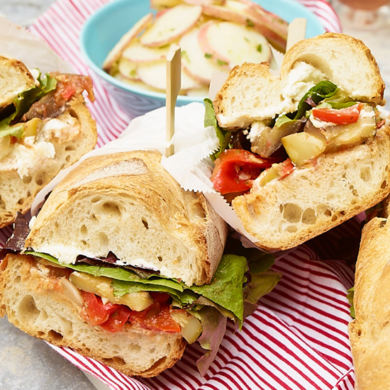Ratatouille and Goat Cheese Subs