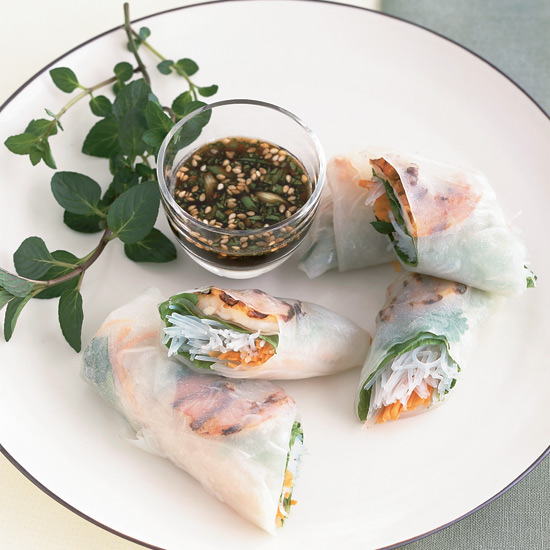 Grilled Shrimp Summer Rolls