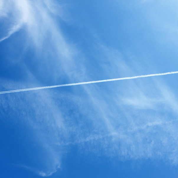 Why planes leave trails in the sky