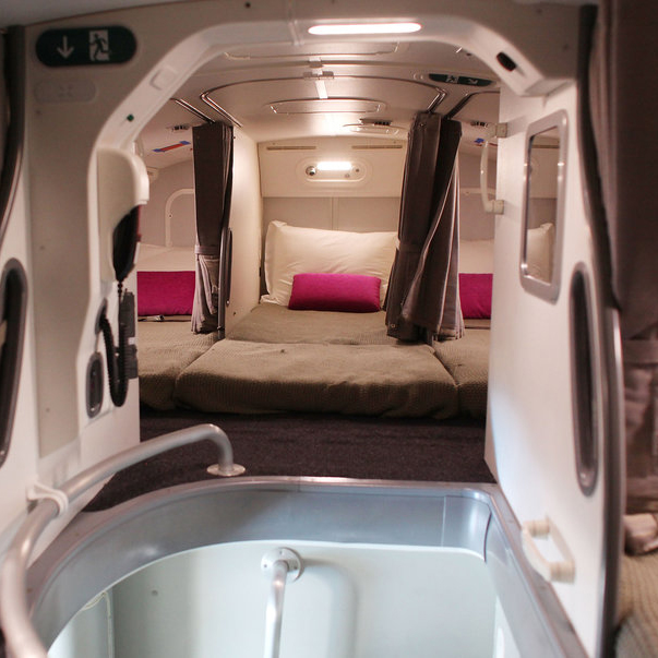 Some airplanes have secret bedrooms for flight crew