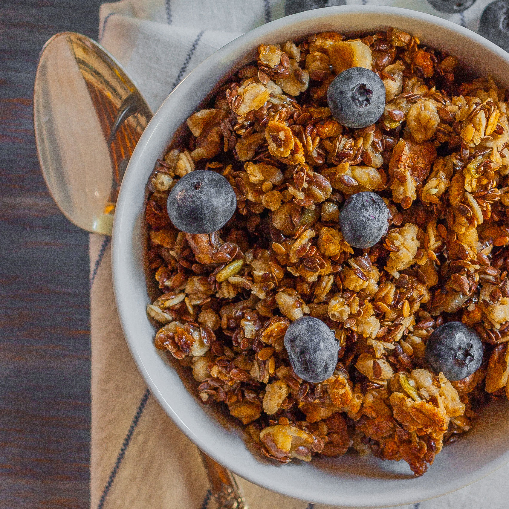 Baked Flax Seed Granola
