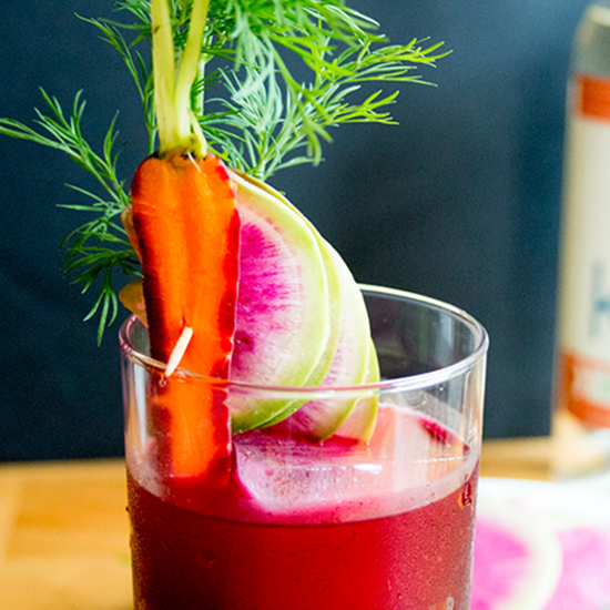 Beet and Horseradish Cocktail