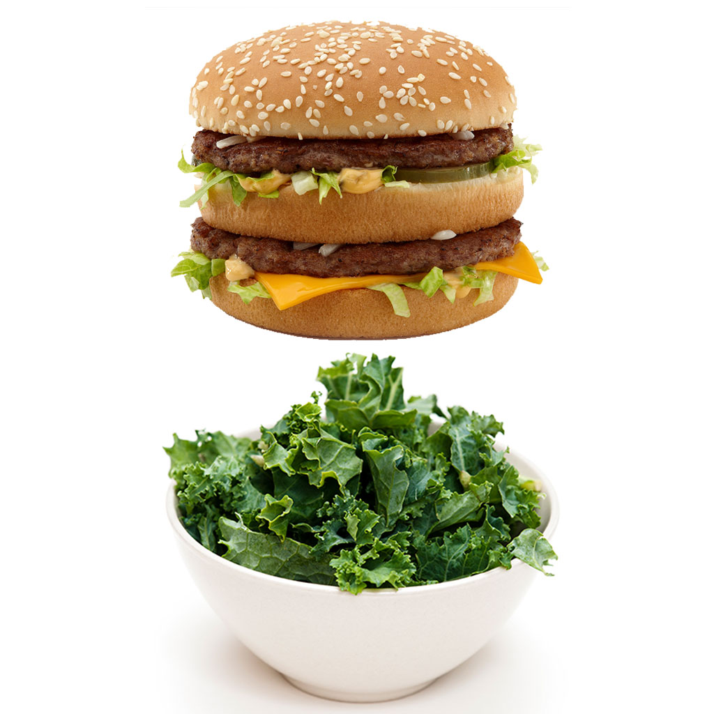 BIG MAC VS KALE SALAD FWX