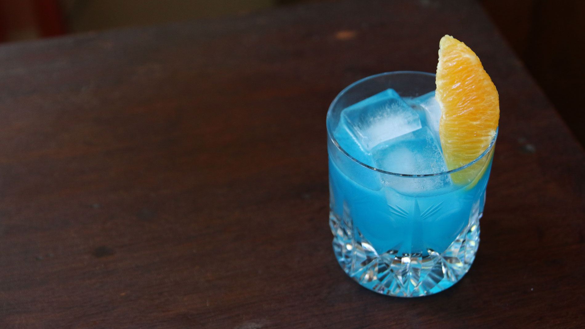 Blue + Mezcal Cocktail