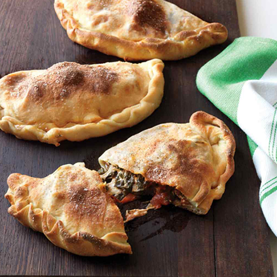 Spinach and Meatballs Calzones