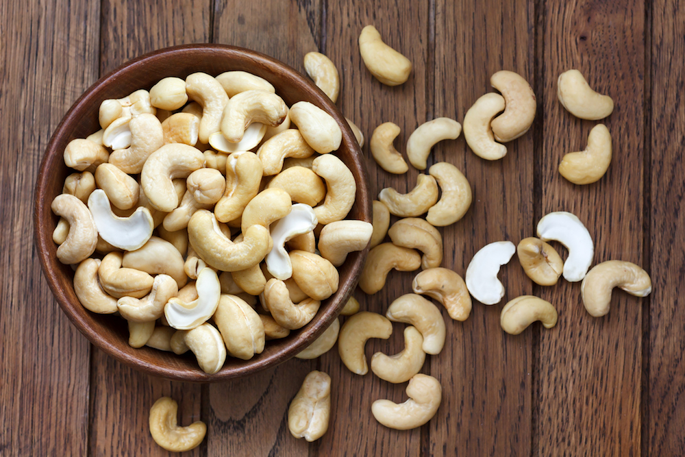 Cashews are good for alleviating stress