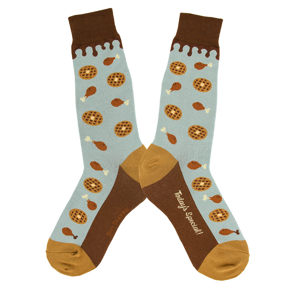 Chicken and Waffles Socks