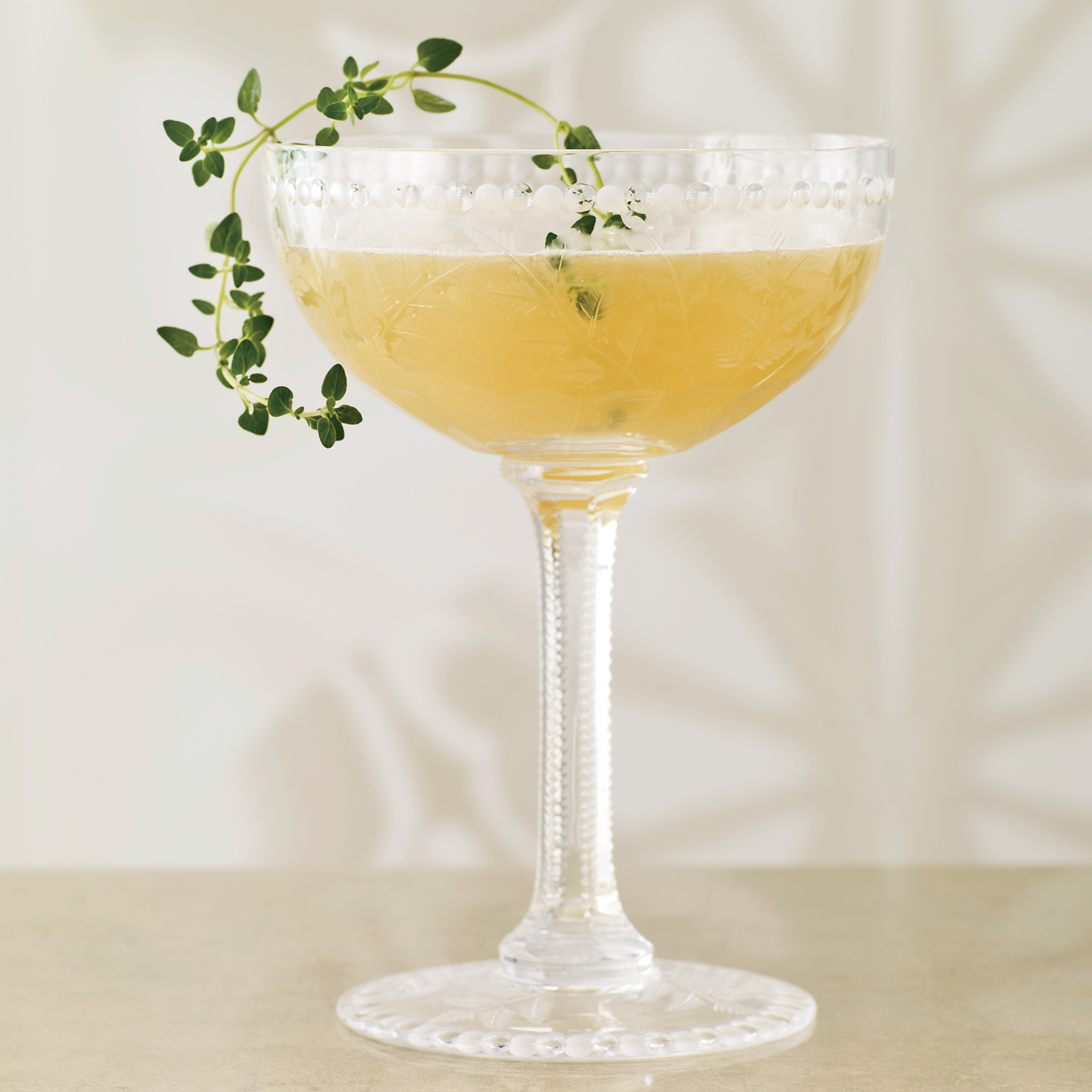 martinis, cocktails, Tea Thyme
