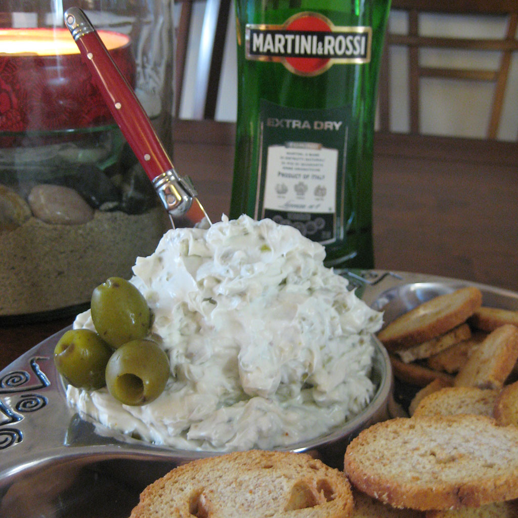 Dirty Martini Cream Cheese
