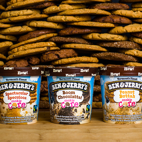 FWX BEN AND JERRYS CORE FLAVORS