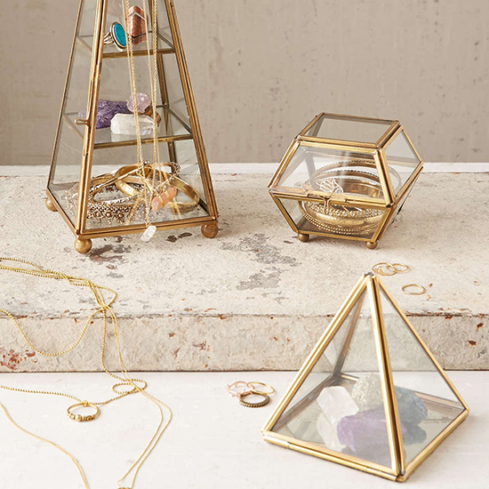 Magical Thinking Faceted Glass Vanity Box
