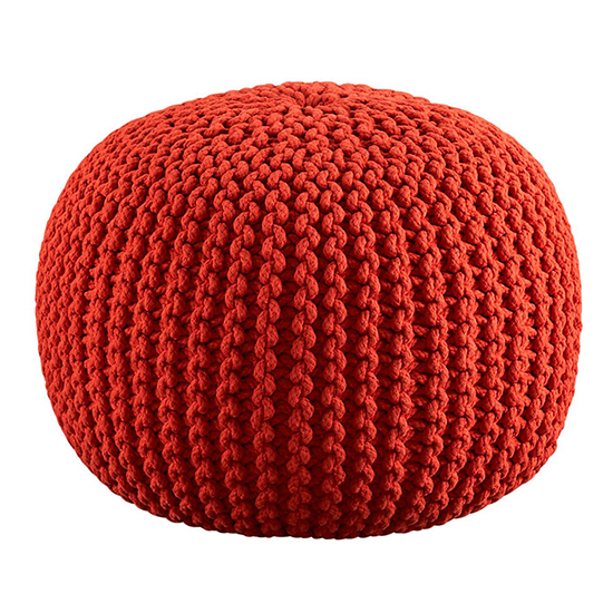 Cotton Craft Hand-Knit Dori Pouf