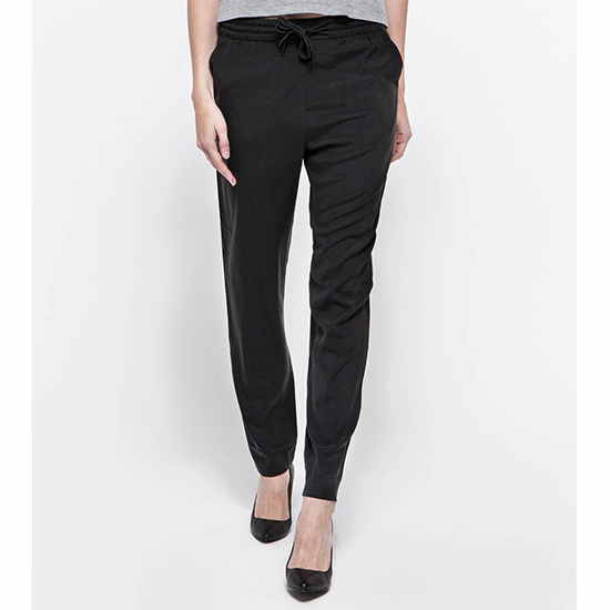 T by Alexander Wang Washed Silk Track Pants