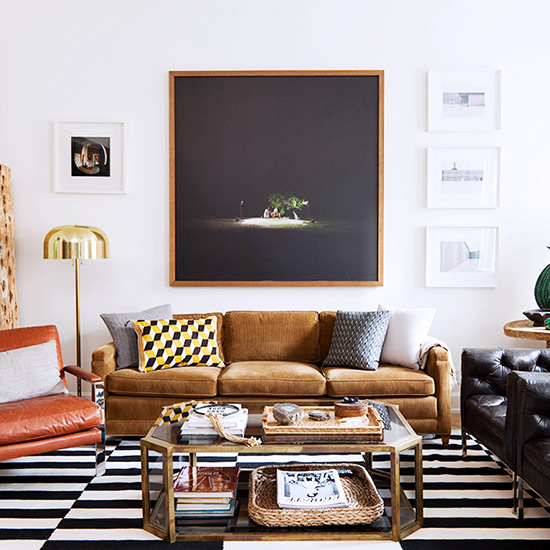 FWX DOMAINE HOME MASCULINE DECORATING CLASHING COLORS