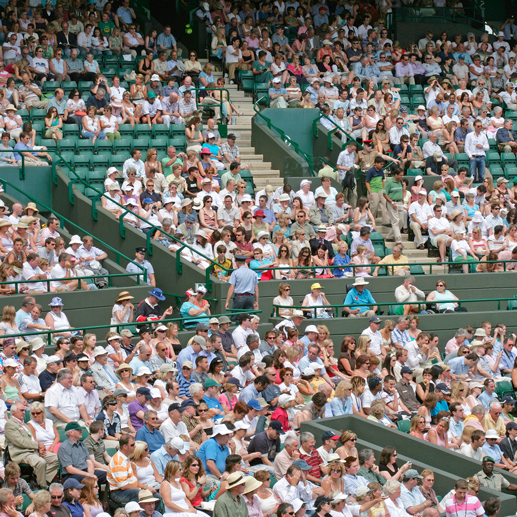 FWX EMPTY SEATS AT WIMBLEDON