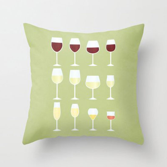 Wine Glasses Throw Pillow