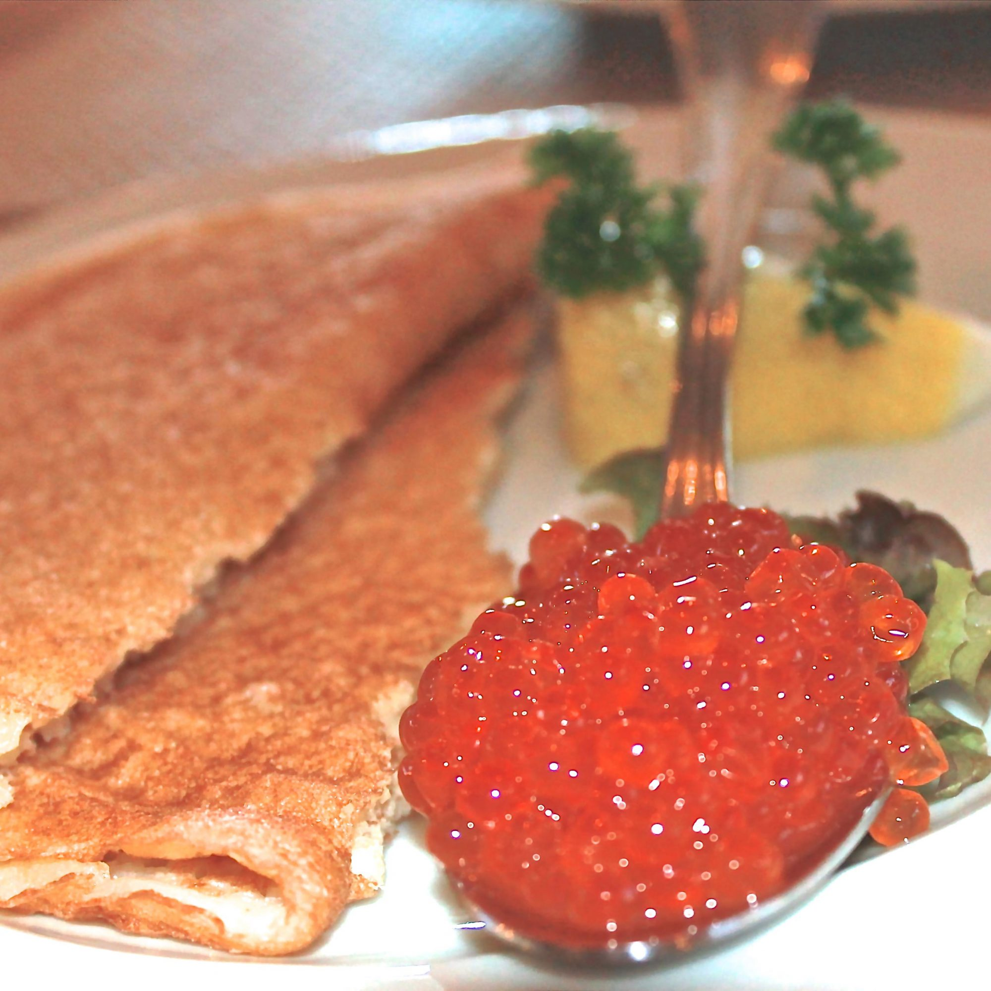 Russian Caviar and Blinis