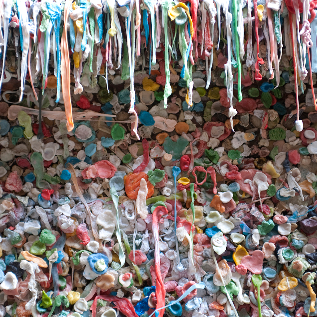 FWX GUM WALL FINALLY CLEANED