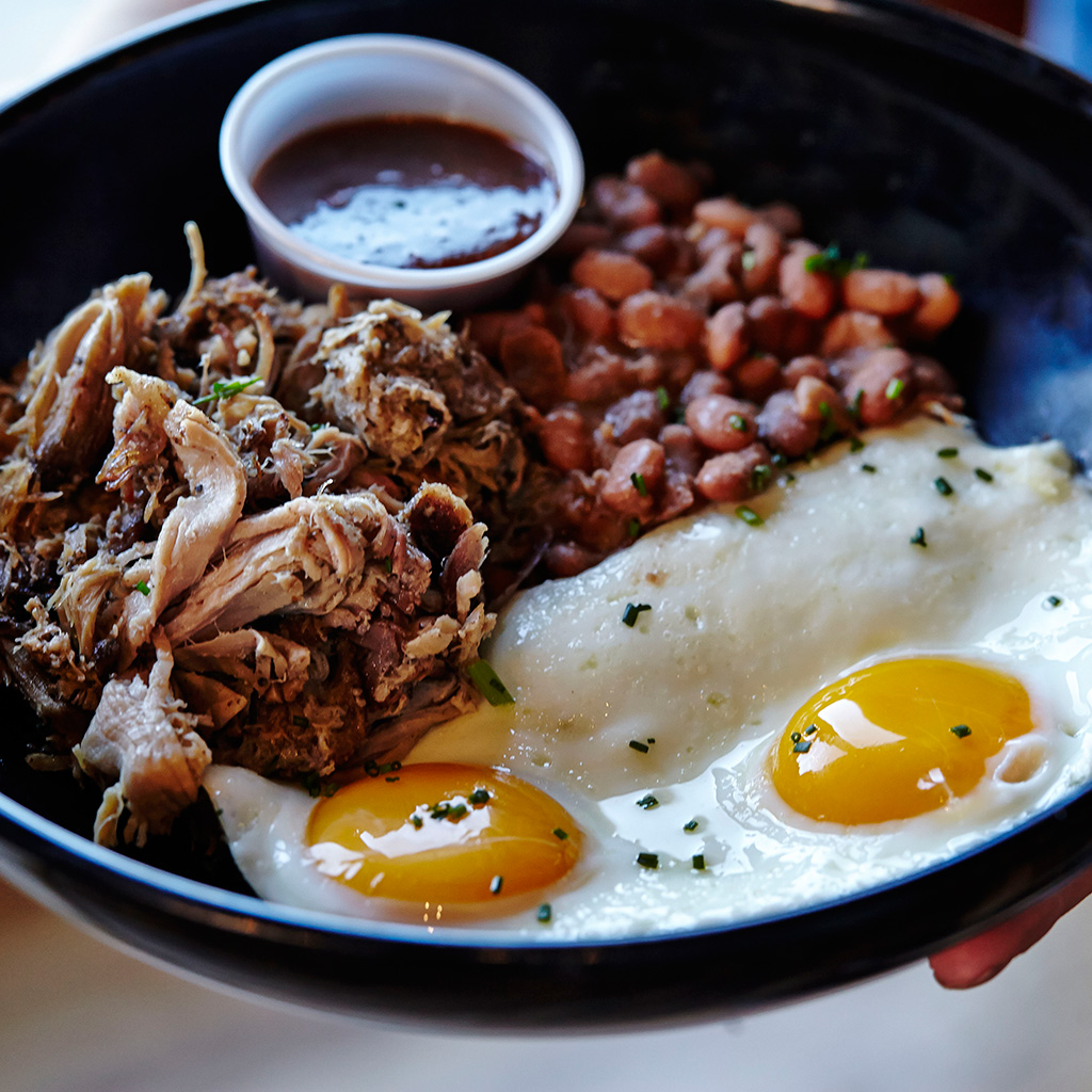 Pulled Pork with Fried Eggs