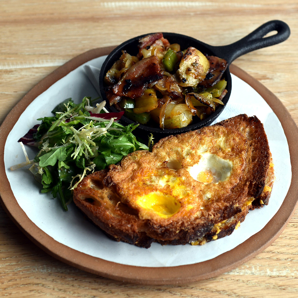 FWX HANGOVER CURES FARO TOAD IN THE HOLE GRILLED CHEESE