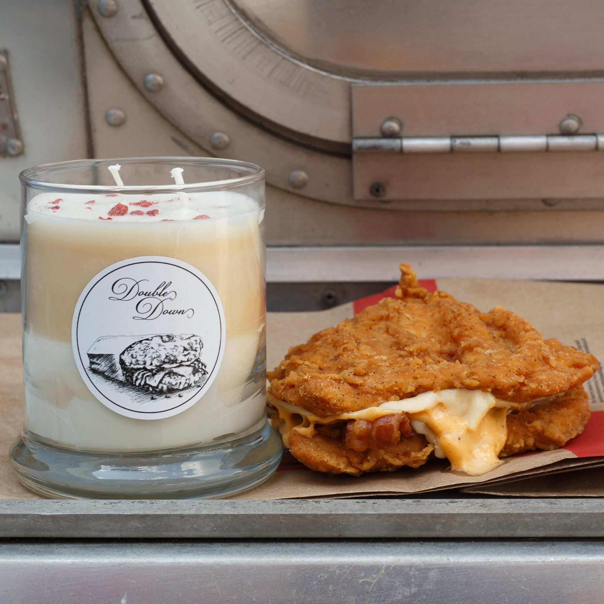 FWX KITCHEN TRASH DOUBLE DOWN CANDLE