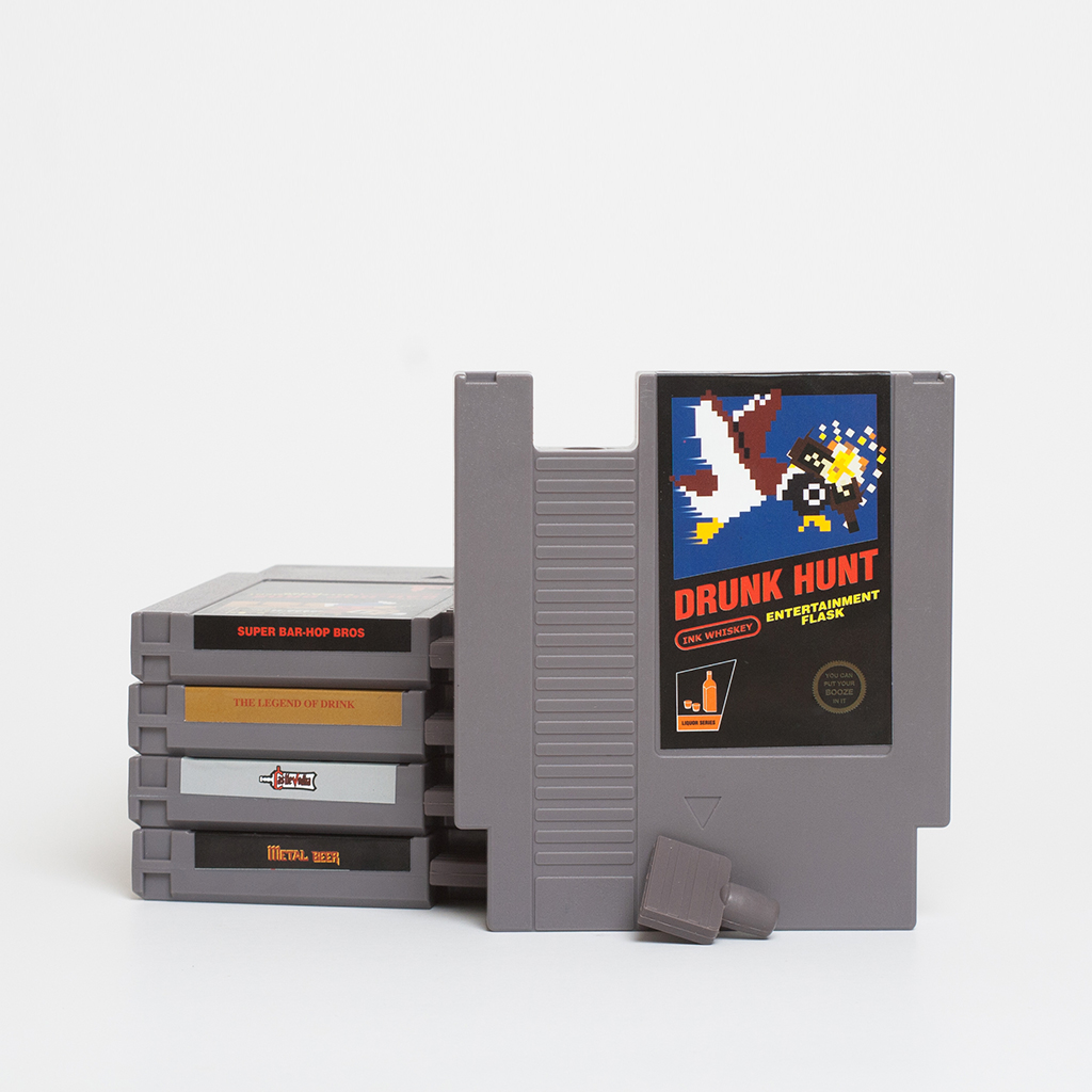 FWX NINTENDO FLASKS INK WHISKEY