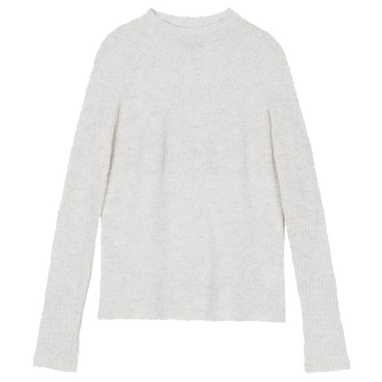 A Gray Mock Neck or Turtleneck