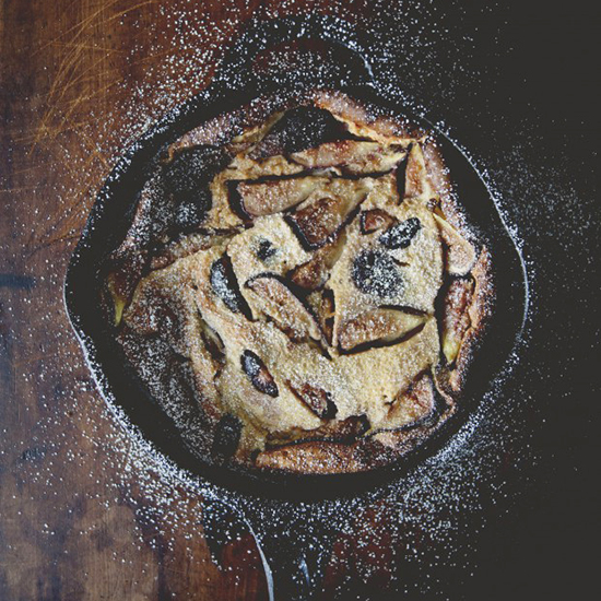 Fig and Brandy Clafoutis
