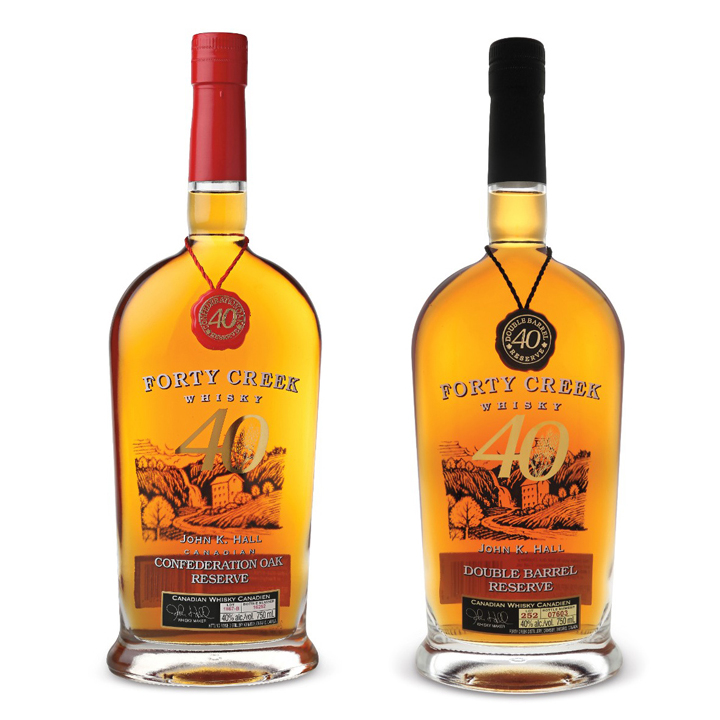Forty Creek Double Barrel Reserve Canadian Whisky ($50) and Confederation Oak Reserve Canadian Whisky ($65)