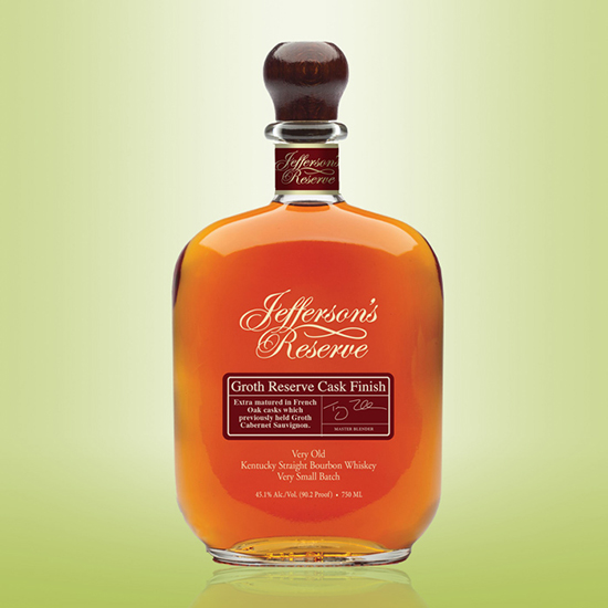 Jefferson's Reserve Bourbon Groth Finish, $80
