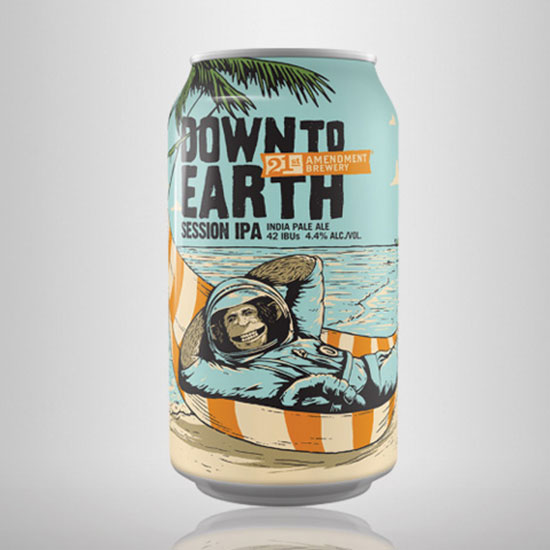 Down to Earth Session IPA, 21st Amendment Brewery